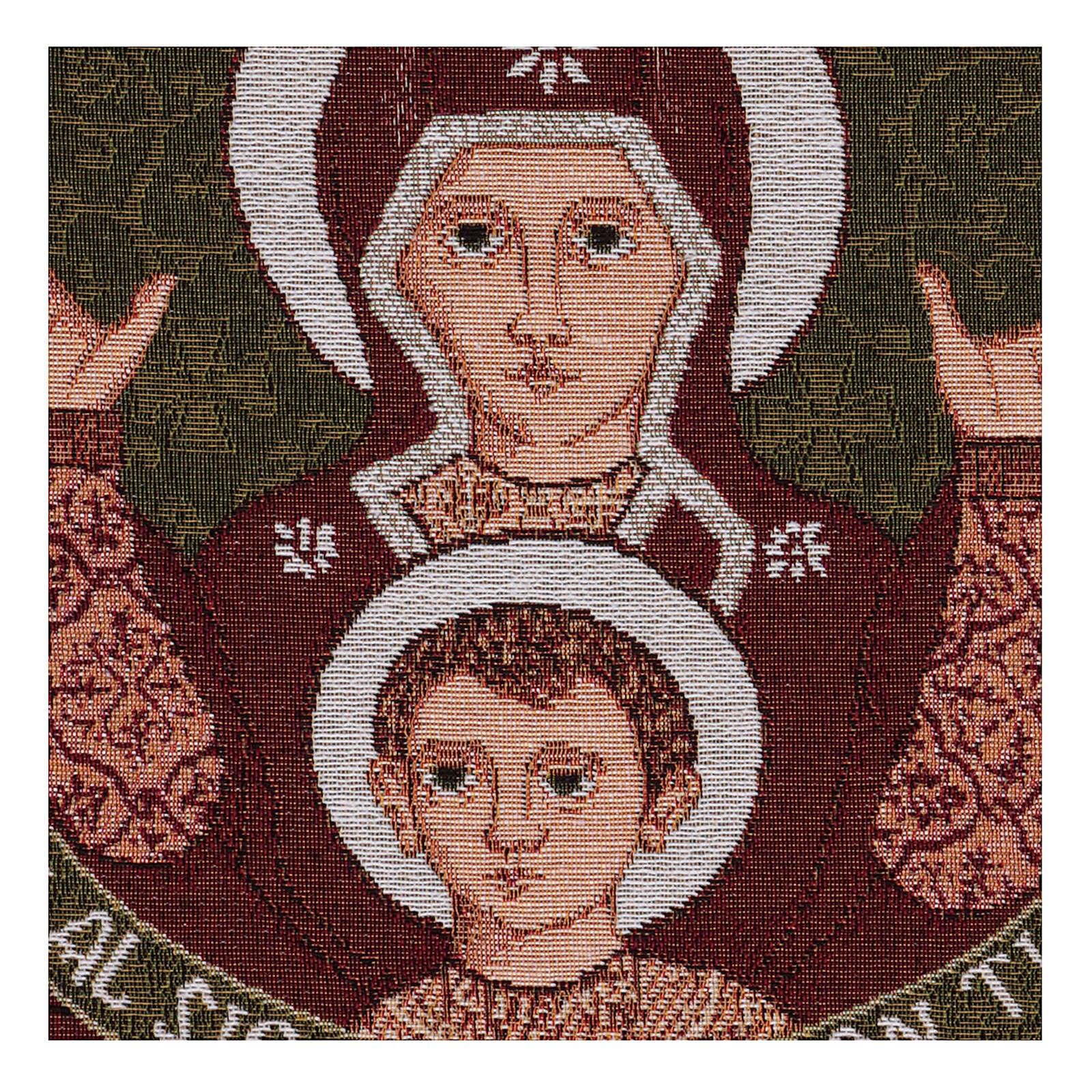 Arazzo Madonna del Roveto Ardente 40x40 cm 3
