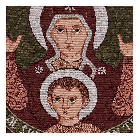 Arazzo Madonna del Roveto Ardente 40x40 cm s2