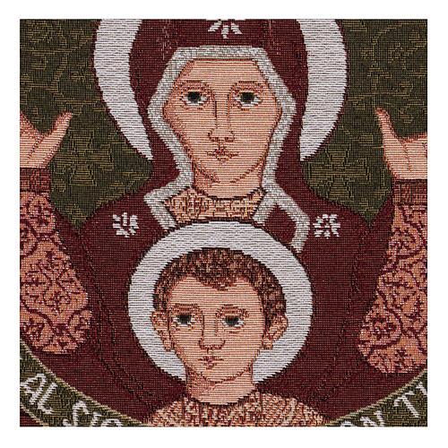 Arazzo Madonna del Roveto Ardente 40x40 cm 2