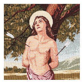 Saint Sebastian tapestry 40x30 cm s2