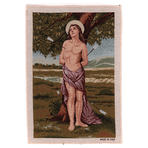 Saint Sebastian tapestry 40x30 cm 1