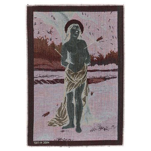 Saint Sebastian tapestry 40x30 cm 3