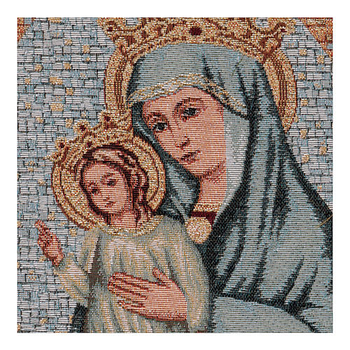 Crowned Our Lady and Baby Jesus tapestry 15x11