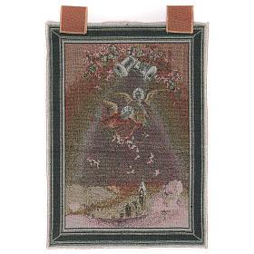 Tapisserie Anges avec fleurs cadre passants 50x40 cm s3
