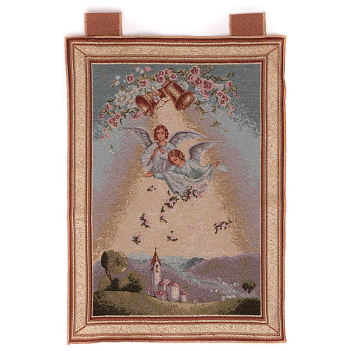 Tapisserie Anges avec fleurs cadre passants 50x40 cm 1