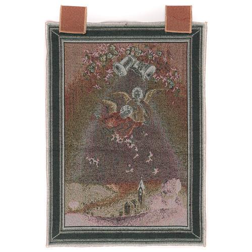Arazzo Angeli con fiori cornice ganci 50x35cm 3