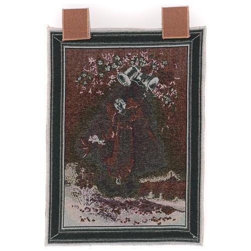 Arazzo Angelo Pasquale cornice ganci 50x35 cm 3
