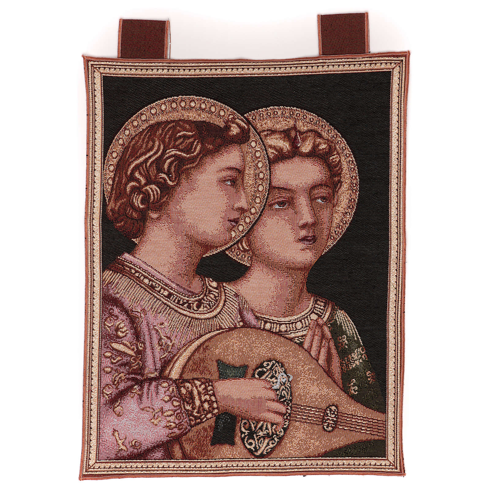 Musical Angels tapestry with frame and hooks 50x30 cm 3