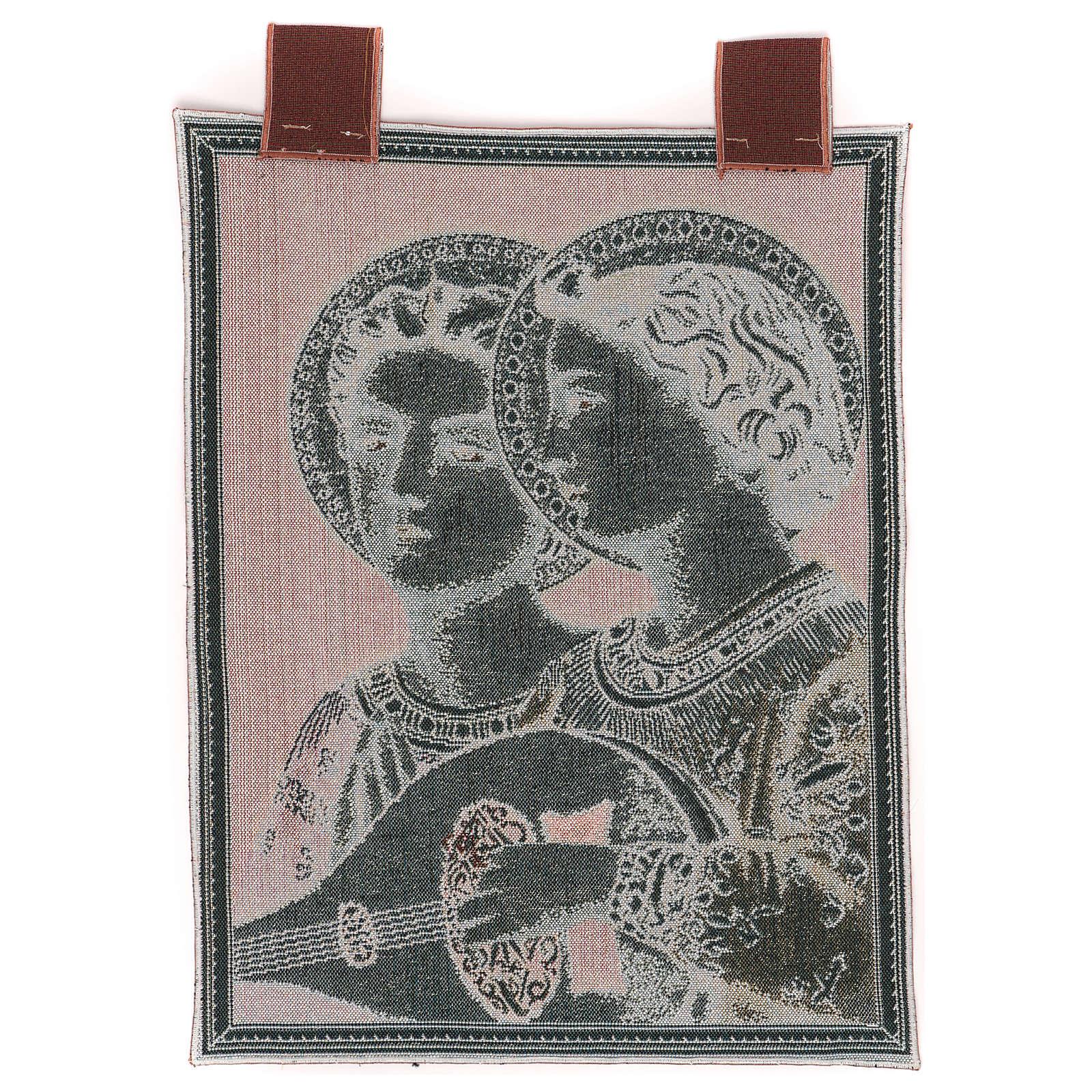 Arazzo Angeli Musicali cornice ganci 50x30 cm 3