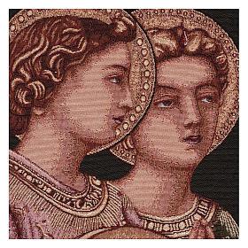 Arazzo Angeli Musicali cornice ganci 50x30 cm s2