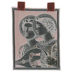 Arazzo Angeli Musicali cornice ganci 50x30 cm s3