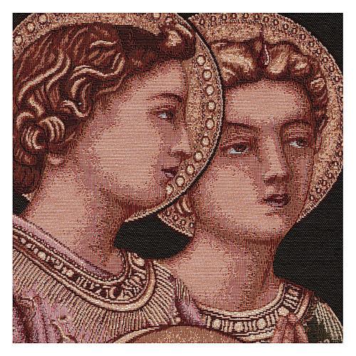 Arazzo Angeli Musicali cornice ganci 50x30 cm 2