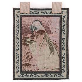 Tapiz Cristo en las Huertas de los Olivos marco ganchos 50x40 cm s3