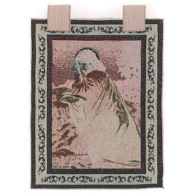 Tapisserie Jésus-Christ à Gethsémani cadre passants 50x40 cm s3
