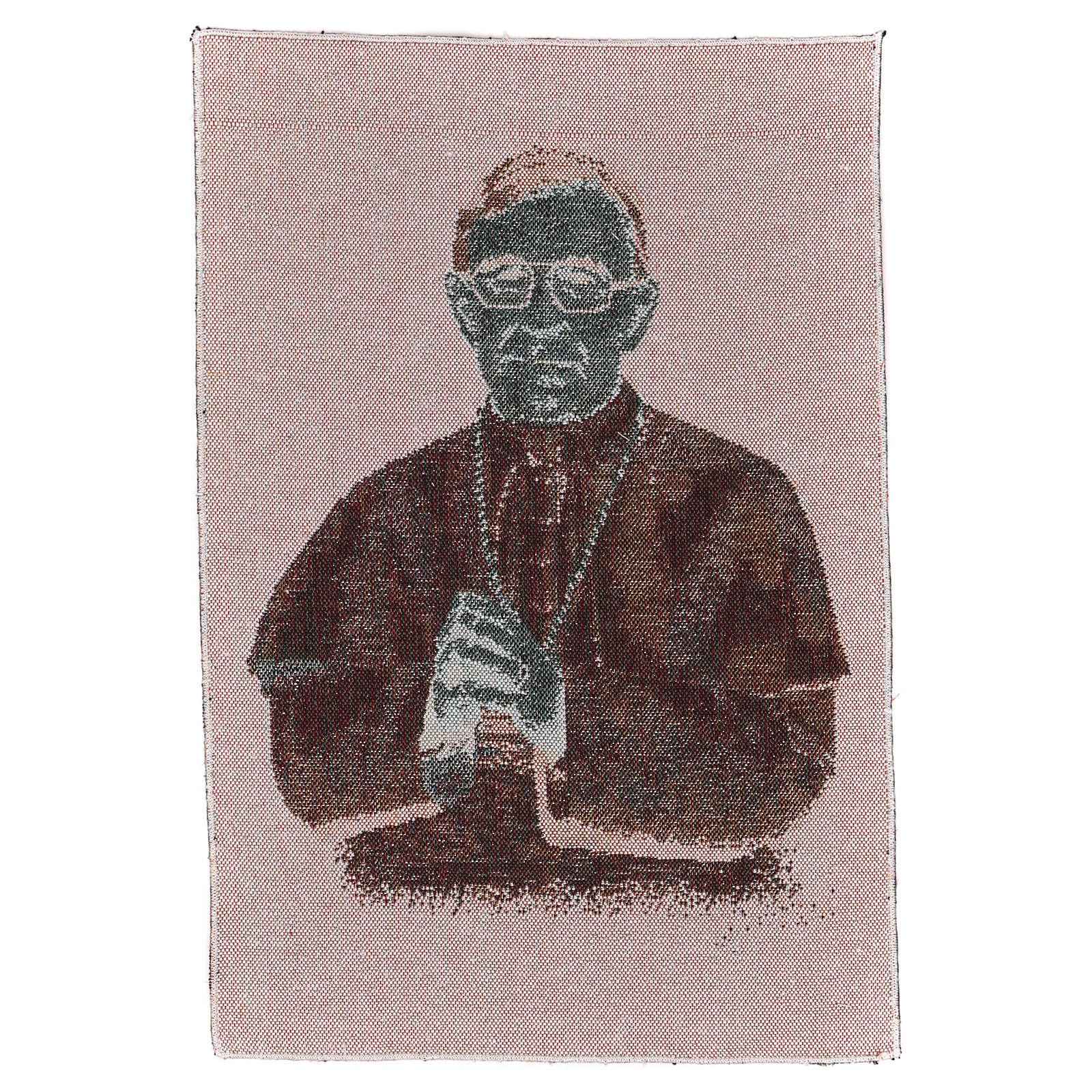Arazzo nero Papa Luciani 40x30 cm 3