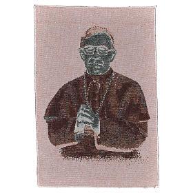 Arazzo nero Papa Luciani 40x30 cm s3