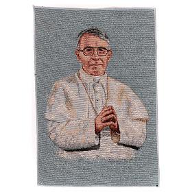 Arazzo azzurro Papa Luciani 40x30 cm s1