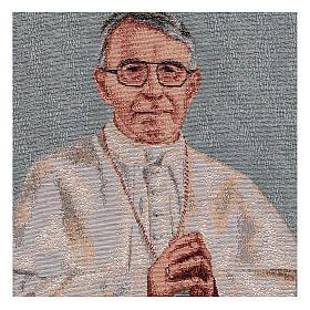Arazzo azzurro Papa Luciani 40x30 cm s2