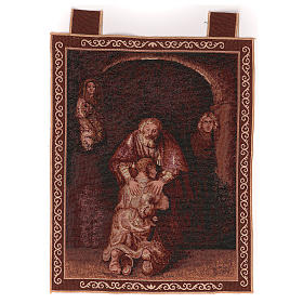 Tapestries:  Prodigal Son tapestry with frame and hooks 50x40 cm