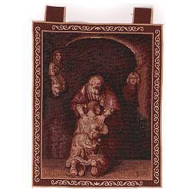Arazzo Figliol Prodigo cornice ganci 50x40 cm s1