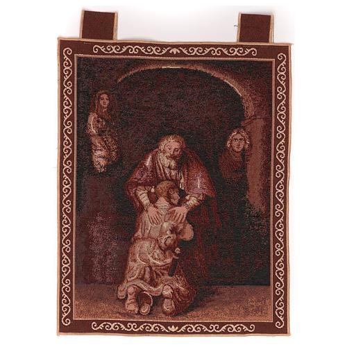 Arazzo Figliol Prodigo cornice ganci 50x40 cm 1