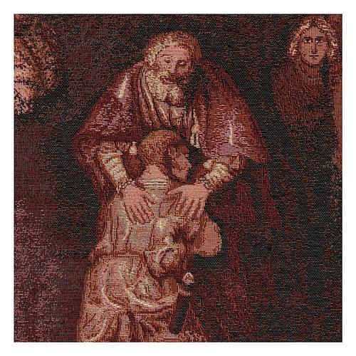 Arazzo Figliol Prodigo cornice ganci 50x40 cm 2