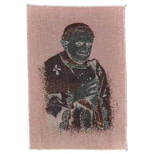 Arazzo nero Papa Benedetto XVI 40x30 cm 3