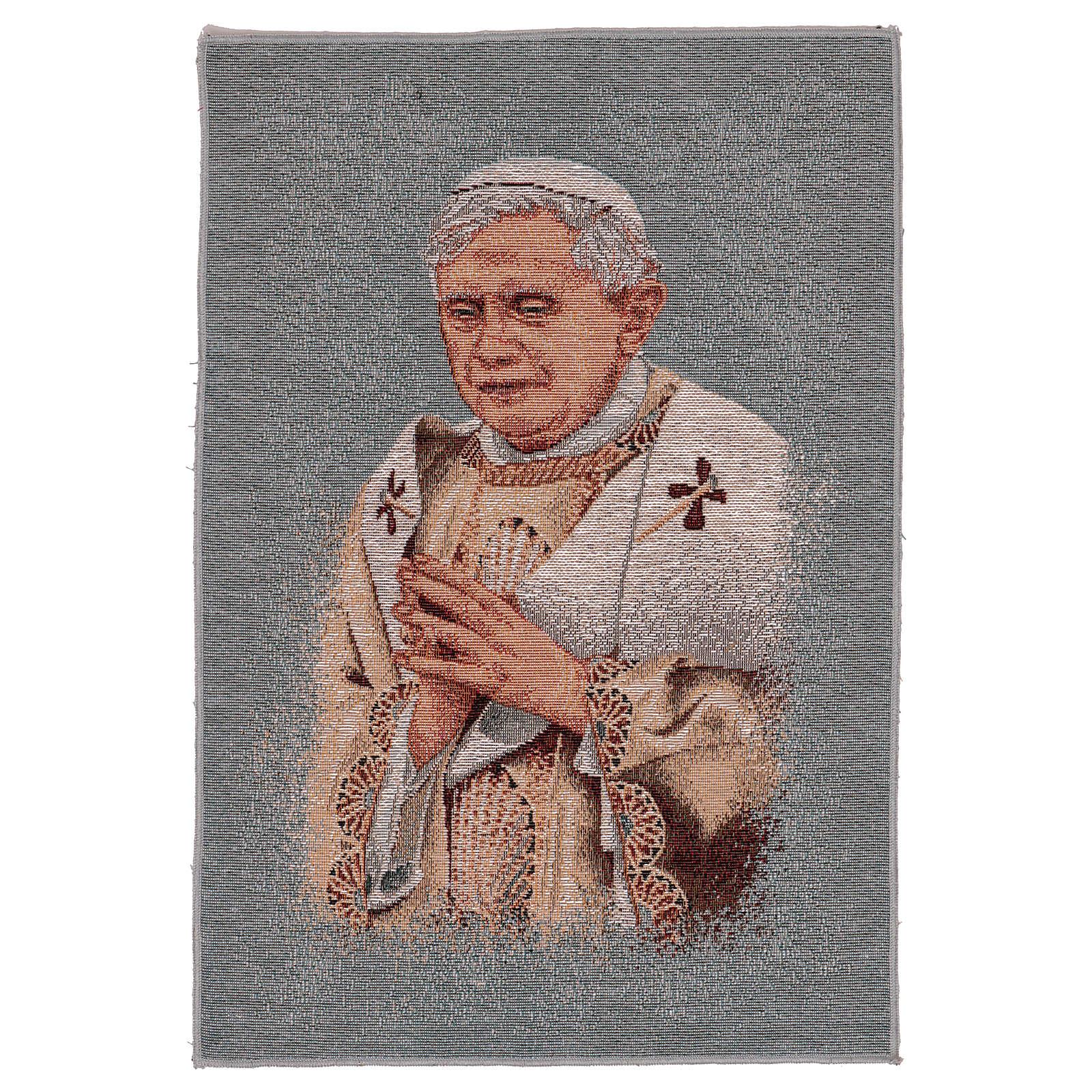 Tapisserie bleue Pape Benoît XVI 40x30 cm 3