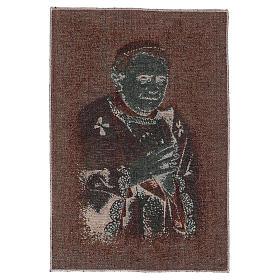 Tapisserie bleue Pape Benoît XVI 40x30 cm s3