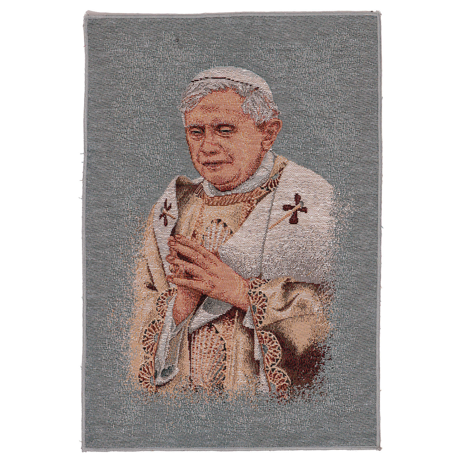 Pope Benedict XVI with light blue background 17x11.5