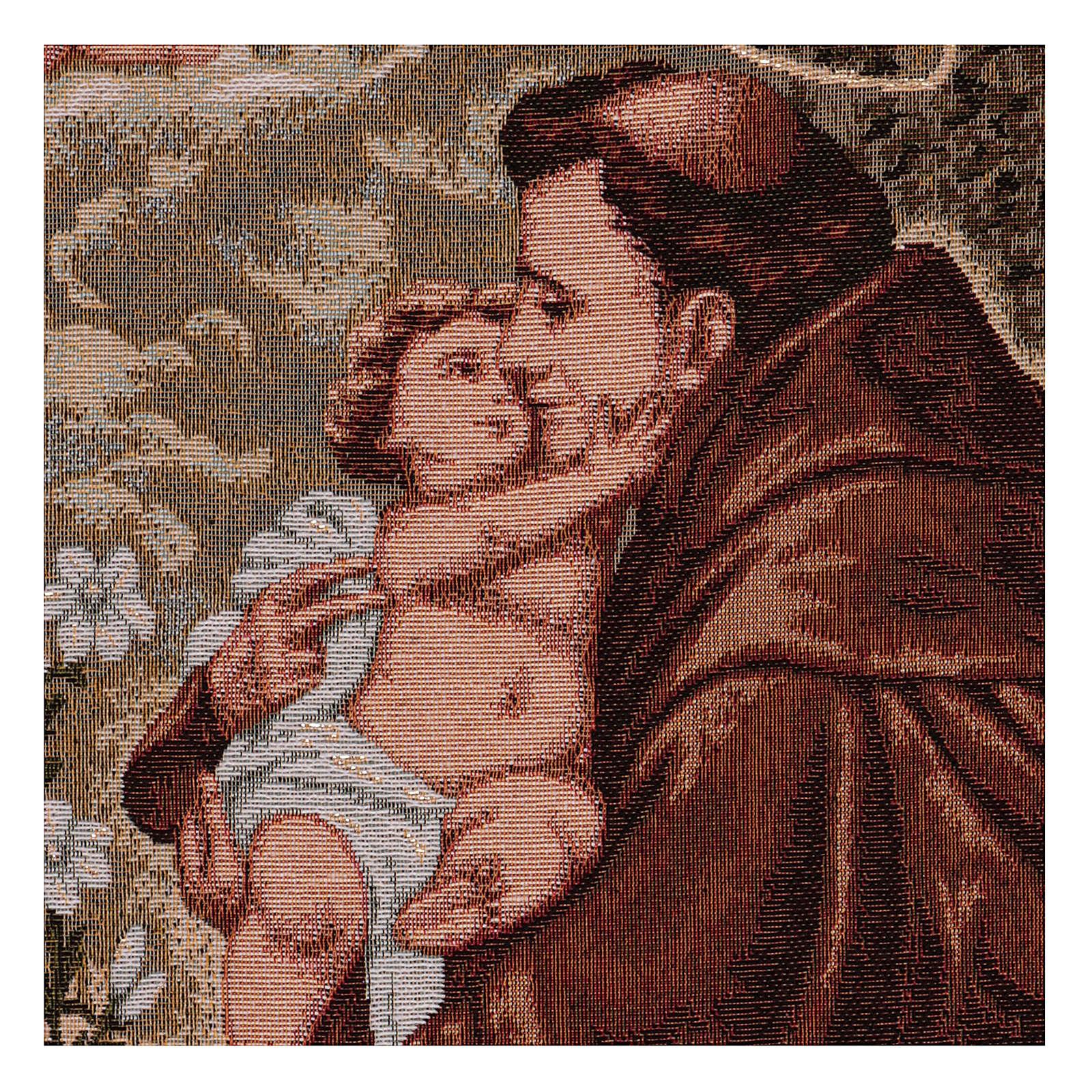Wandteppich Heiliger Antonius von Padua, mit Rahmen und Schlaufen 50x40 cm 3