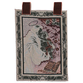 Saint Anthony of Padua tapestry with frame and hooks 50x40 cm s3
