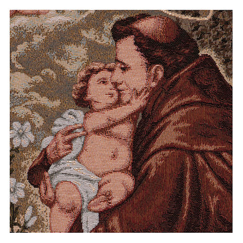 Saint Anthony of Padua tapestry with frame and hooks 50x40 cm 2