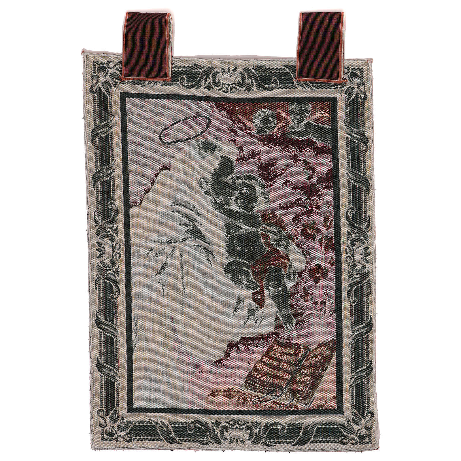 Tapiz S. Antonio de Padua Libro marco ganchos 50x40 cm 3