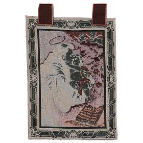 Arazzo S. Antonio da Padova Libro cornice ganci 50x40 cm s3
