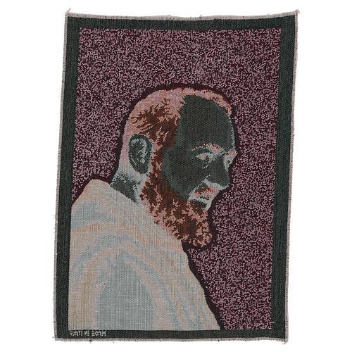 Tapisserie Padre Pio or 40x30 cm 3