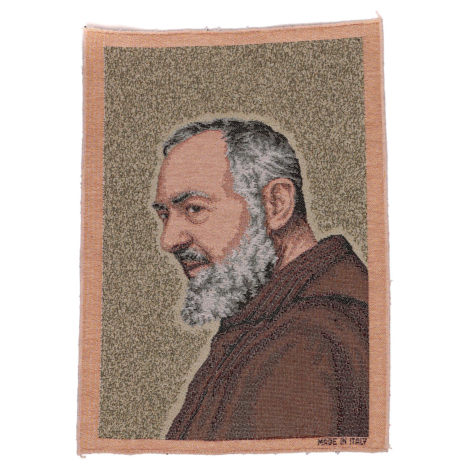 Arazzo Padre Pio oro 40x30 cm 3