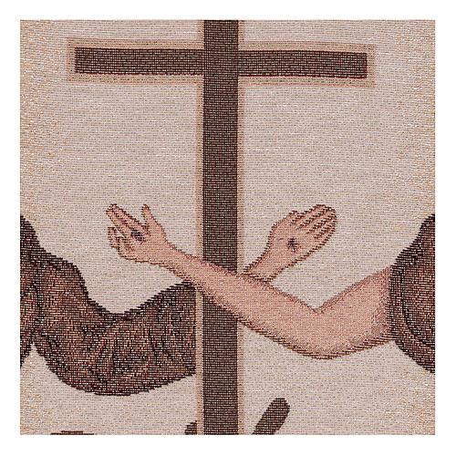 Arazzo Simboli Francescani 40x30 cm 2