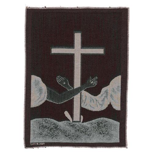 Arazzo Simboli Francescani 40x30 cm 3