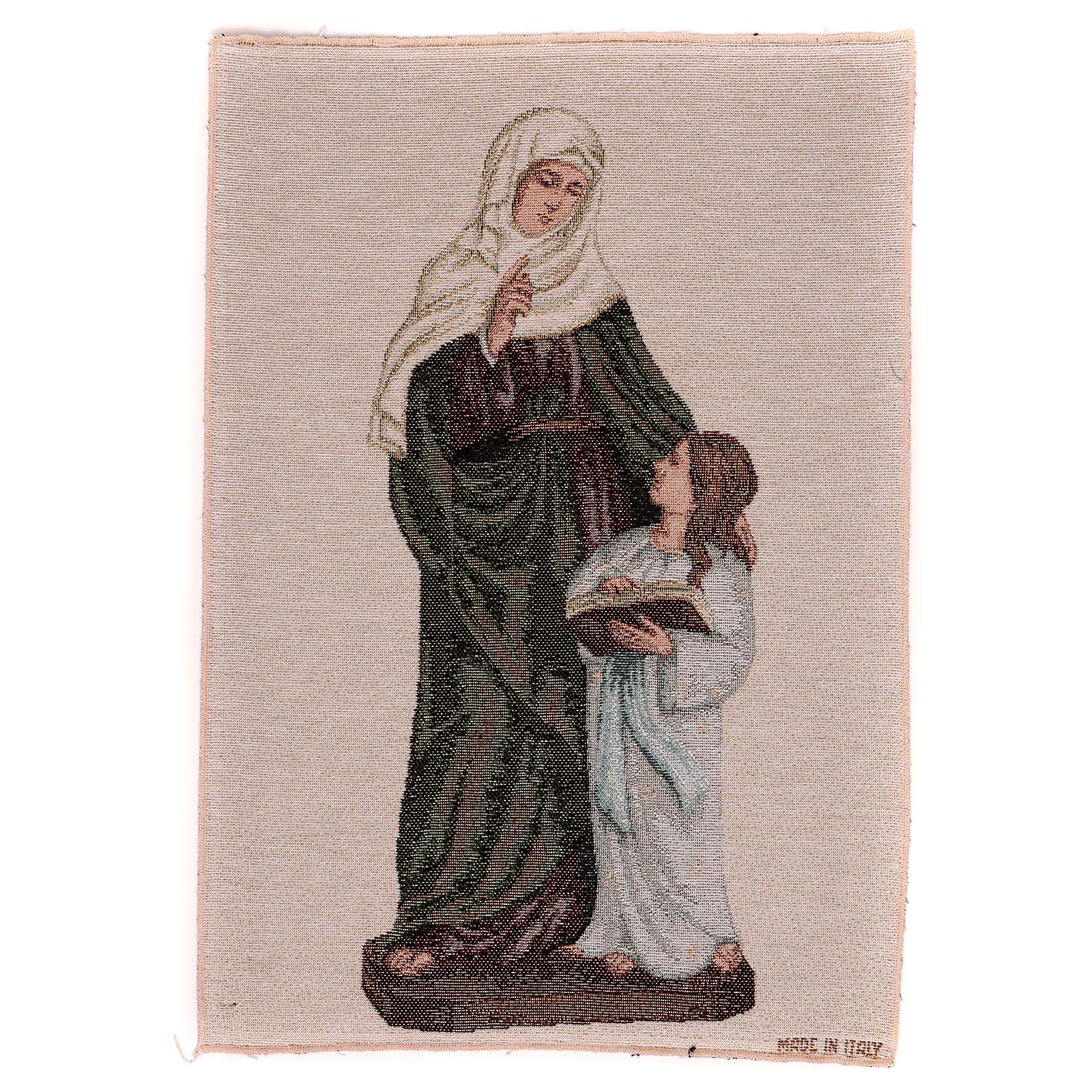 Arazzo S. Anna e Maria Bambina 40x30 3