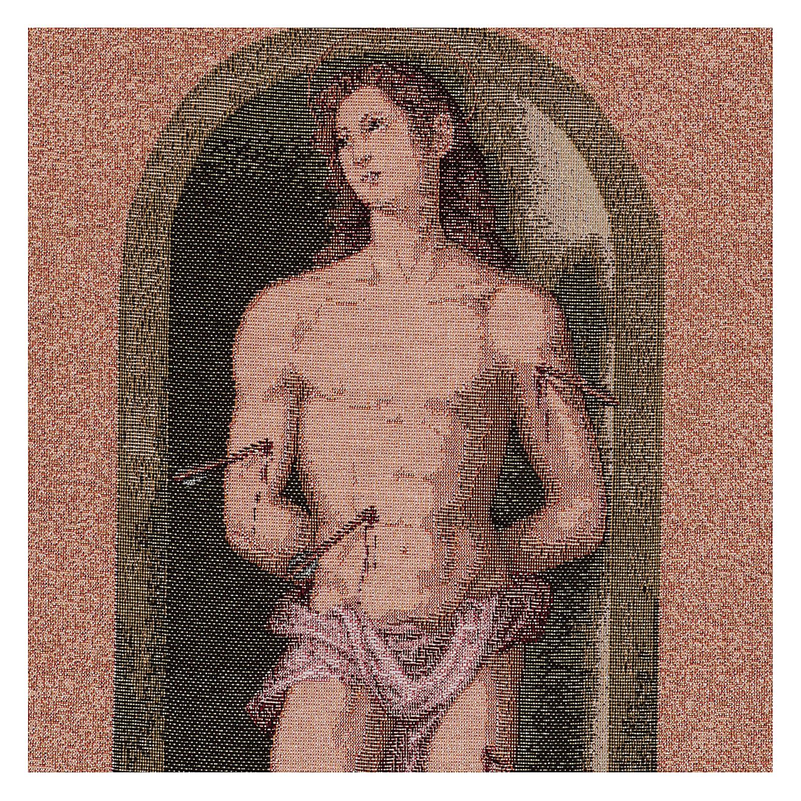 Saint Sebastian tapestry oval shape 50x40 cm 3
