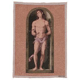 Saint Sebastian tapestry oval shape 50x40 cm s1