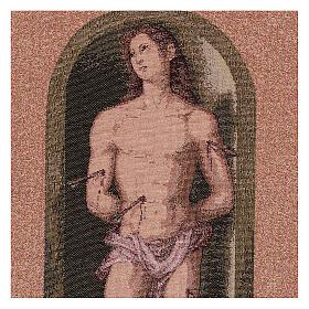 Saint Sebastian tapestry oval shape 50x40 cm s2