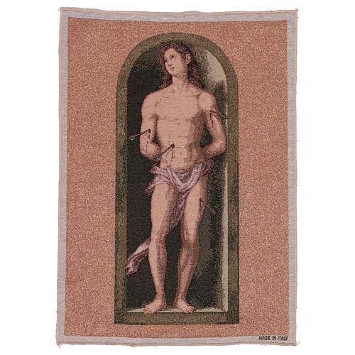 Saint Sebastian tapestry oval shape 50x40 cm 1