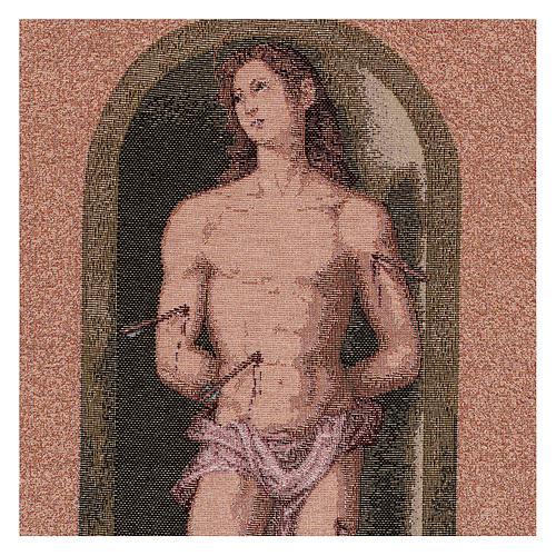 Saint Sebastian tapestry oval shape 50x40 cm 2