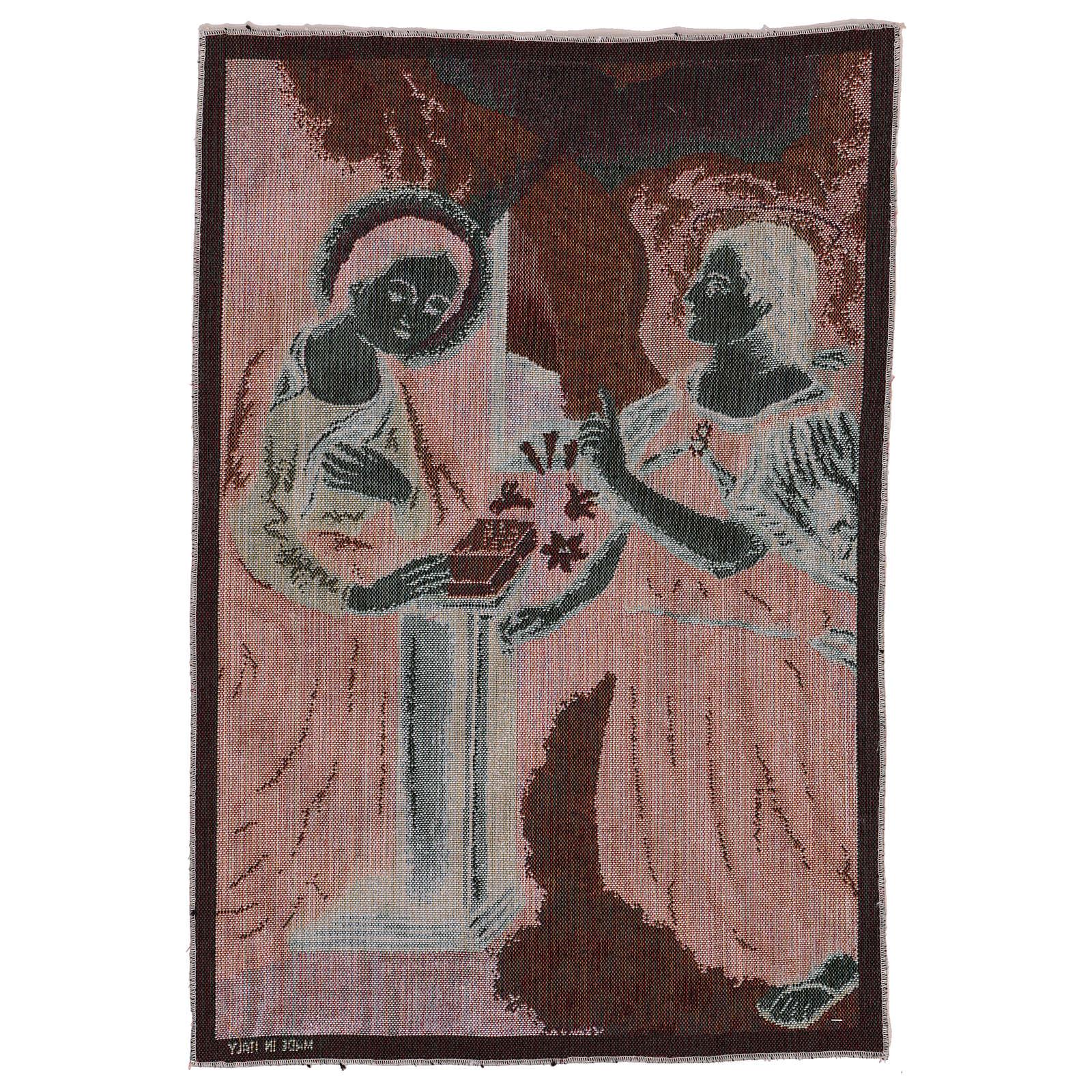 Arazzo Annunciazione 55x40 cm 3
