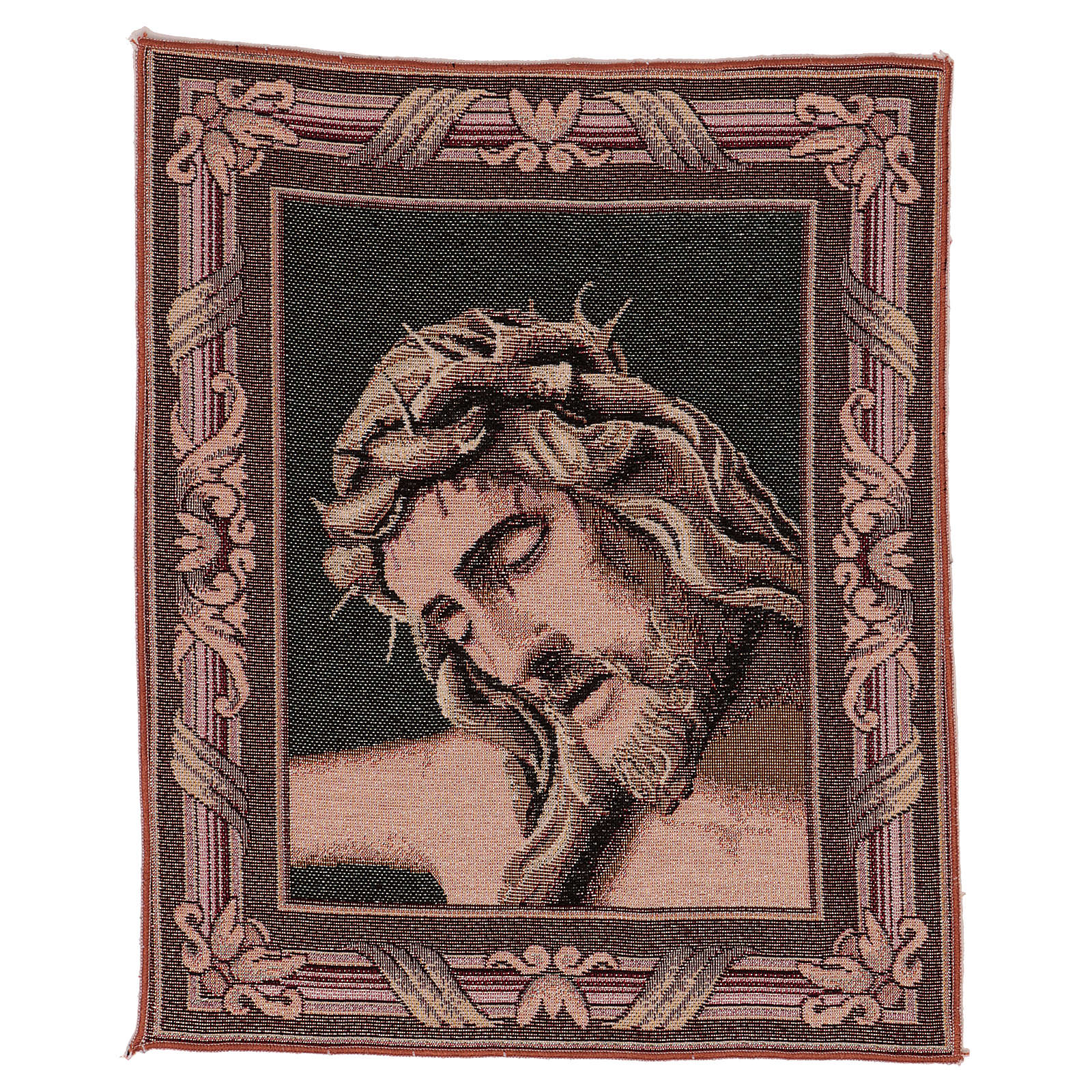 Wandteppich Christus-Antlitz mit Dornenkrone 40x30 cm 3