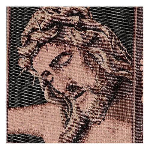 Wandteppich Christus-Antlitz mit Dornenkrone 40x30 cm 2