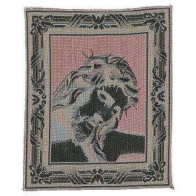 Gobelin Oblicze Chrystusa z Koroną Cierniową 40x30 cm s3