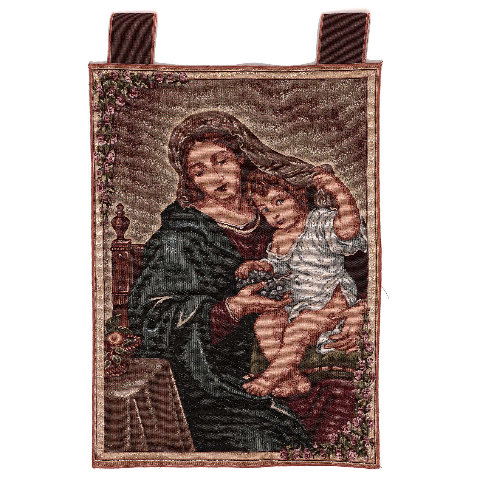 Arazzo Madonna dell'Uva 50x40 cm 3